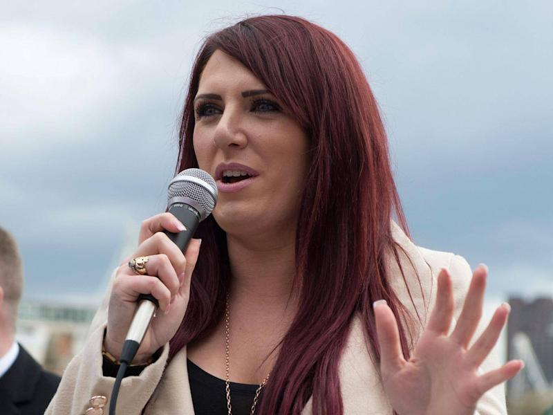 The deputy leader of far-right group Britain First, Jayda Fransen (PA)