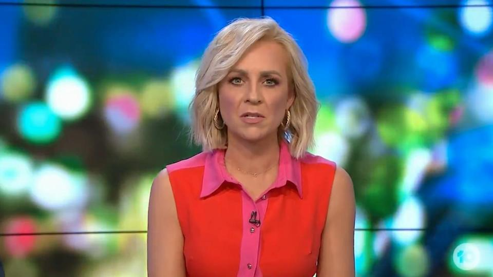 Carrie Bickmore on The Project Monday September 27, 2021. Photo: Channel 10.