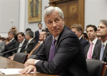 JPMorgan Chase & Co CEO Jamie Dimon testifies before the House Financial Services hearing on Capitol Hill in Washington