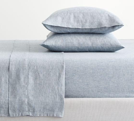"""<p><strong>Pottery Barn</strong></p><p>potterybarn.com</p><p><strong>$249.00</strong></p><p><a href=""""https://go.redirectingat.com?id=74968X1596630&url=https%3A%2F%2Fwww.potterybarn.com%2Fproducts%2Fbelgian-linen-sheet-set%2F&sref=https%3A%2F%2Fwww.housebeautiful.com%2Fshopping%2Fhome-accessories%2Fg31933748%2Fbest-linen-sheets%2F"""" rel=""""nofollow noopener"""" target=""""_blank"""" data-ylk=""""slk:BUY NOW"""" class=""""link rapid-noclick-resp"""">BUY NOW</a></p><p>Do you love that """"lived-in"""" look that linen provides? This set from Pottery Barn really plays that up. Plus, these sheets are Fair Trade Certified—in other words, the individuals making them work under fair labor practices, and are inspired to invest in their communities. Made with 100 percent Belgian flax, this particular set is extremely durable and smooth as can be.</p>"""