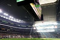 <p>A general view of the field during the game between the Washington Redskins and Dallas Cowboys at AT&T Stadium on November 24, 2016 in Arlington, Texas. (Photo by Ronald Martinez/Getty Images) </p>