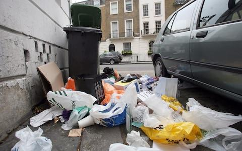 rubbish on streets - Credit: Getty