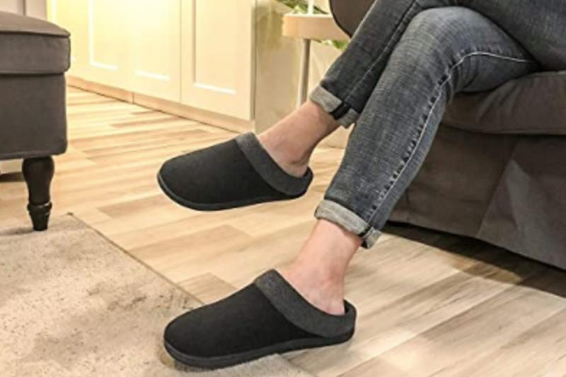 These HomeIdeas Men's Anti-Slip House Slippers will keep you warm all winter long.