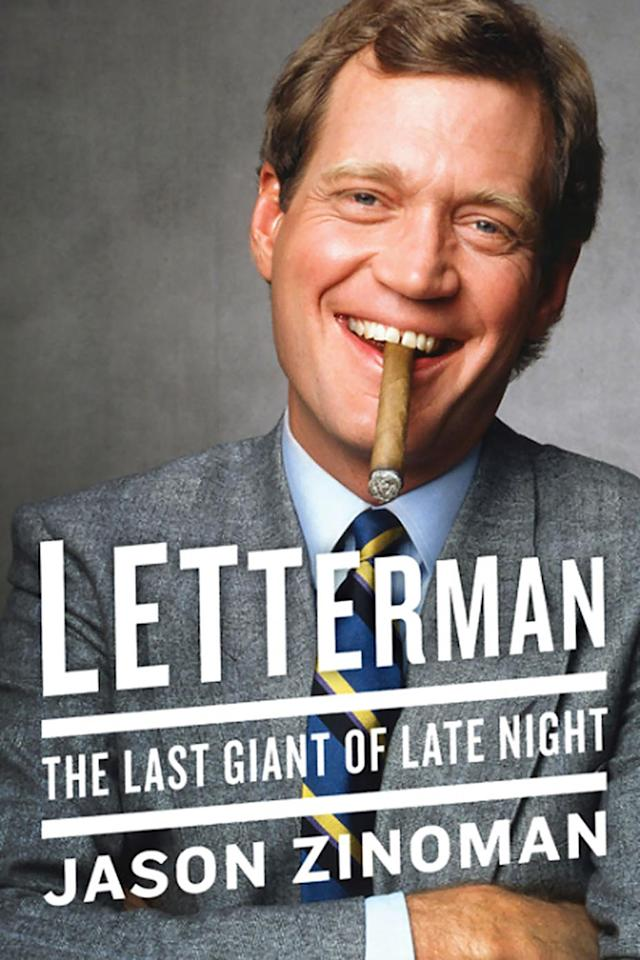 """<p>Even if you understand that Letterman remains an influential pop culture presence even in retirement, <em>New York Times</em> comedy critic Zinoman's personal and career biography of the icon will shed light on just how widespread his impact is throughout all mediums of the comedy and TV world. Covering his early TV days in Indiana through his complicated relationships with, well, pretty much everyone, including his shows' writers and <em>Late Night With David Letterman</em> co-creator and one-time Letterman love Merill Markoe and his move to CBS, Zinoman's book is an all-access pass to Letterman's TV history, relationships, and groundbreaking work, including 135 Stupid Pet Tricks segments, the classic Velcro suit, and the plan to do an entire episode of the show underwater, long before <a href=""""https://www.yahoo.com/tv/tagged/bojack-horseman"""" data-ylk=""""slk:BoJack Horseman"""" class=""""link rapid-noclick-resp""""><em>BoJack Horseman</em></a> did it in animation.<br><br>(Harper) </p>"""