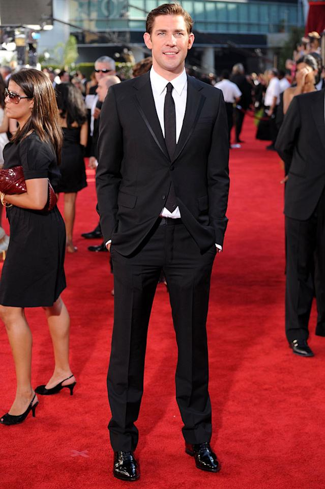"John Krasinski (""The Office"") arrives at the 61st Primetime Emmy Awards held at the Nokia Theatre on September 20, 2009, in Los Angeles."