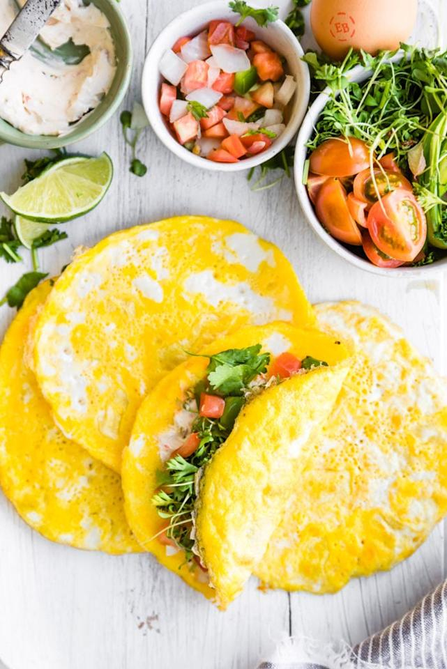 "<p>This recipe replaces traditional wraps with eggs for <a href=""https://www.popsugar.com/fitness/Healthy-High-Protein-Breakfast-Recipes-44475433"" class=""ga-track"" data-ga-category=""Related"" data-ga-label=""https://www.popsugar.com/fitness/Healthy-High-Protein-Breakfast-Recipes-44475433"" data-ga-action=""In-Line Links"">a protein-packed breakfast</a>. They'll stay good in the fridge for several days!</p> <p><strong>Get the recipe:</strong> <a href=""http://www.cottercrunch.com/paleo-breakfast-egg-wraps/"" target=""_blank"" class=""ga-track"" data-ga-category=""Related"" data-ga-label=""http://www.cottercrunch.com/paleo-breakfast-egg-wraps/"" data-ga-action=""In-Line Links"">breakfast egg wraps</a></p>"