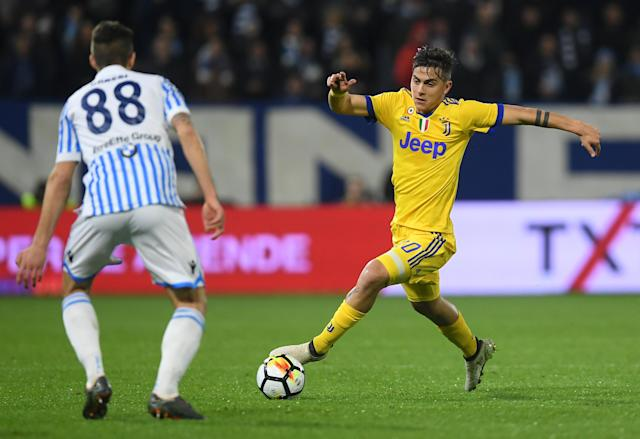 Soccer Football - Serie A - SPAL vs Juventus - Paolo Mazza, Ferrara, Italy - March 17, 2018 Juventus' Paulo Dybala in action REUTERS/Alberto Lingria