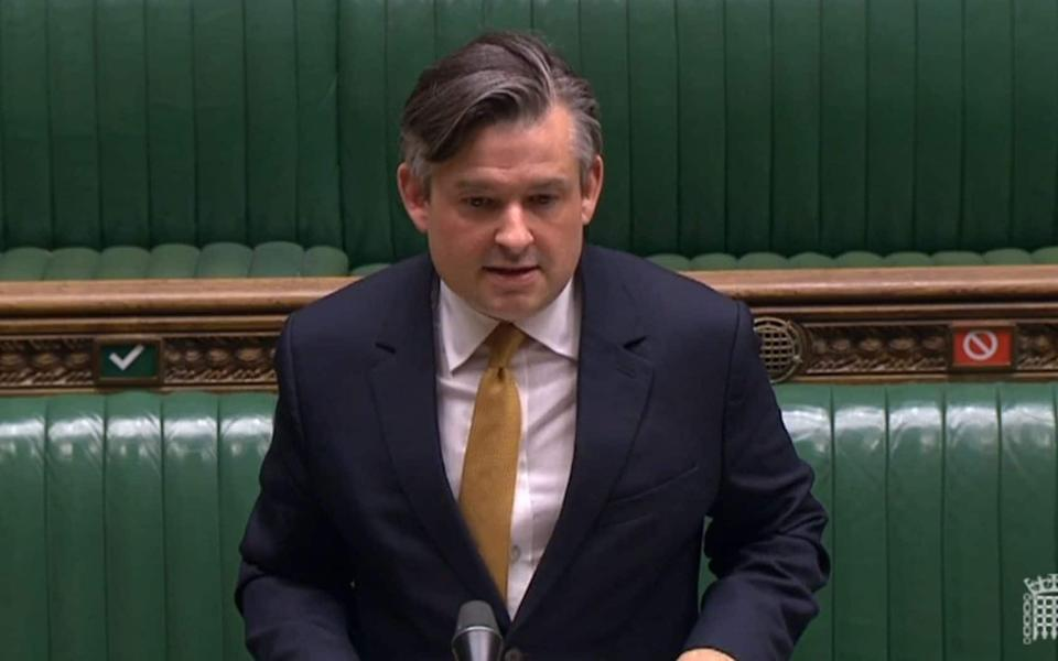 Shadow health secretary Jonathan Ashworth responds after Health Secretary Matt Hancock  - PA