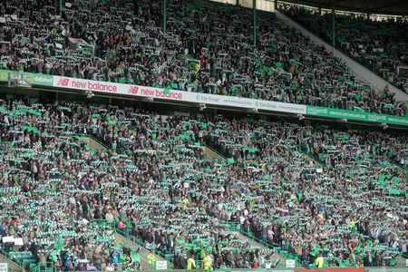 Celtic fans are seen in Celtic Park before the last match of the season against Heart of Midlothian, Glasgow, Scotland, Britain, May 21, 2017. Picture taken May 21, 2017 REUTERS/Paul Hackett