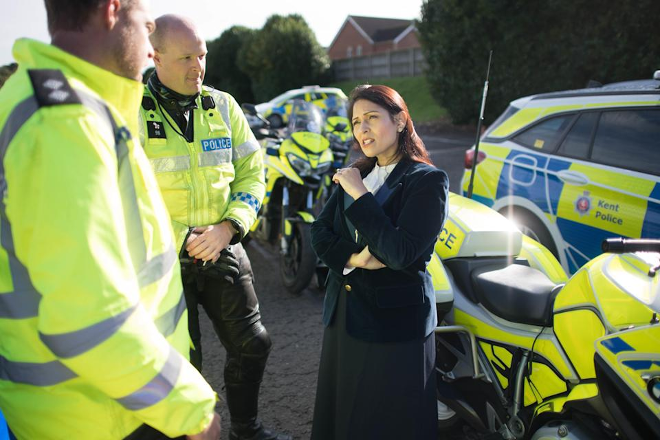 Home Secretary Priti Patel during a visit to Kent Police College (Stefan Rousseau/PA) (PA Archive)