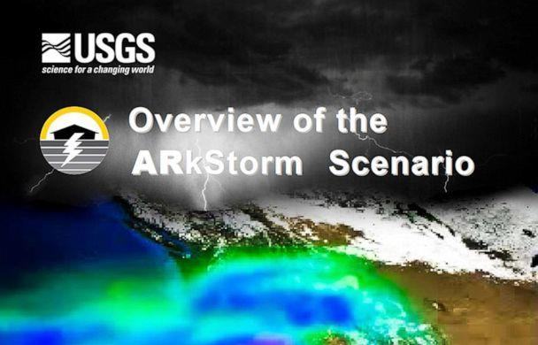 PHOTO: A rendering of what a 'mega ARkStorm' could look like is pictured on the cover of the USGS Open-File Report 2010-1312, 'Overview of the ARkStorm Scenario.' Work on a new report is getting underway. (United States Geological Survey)