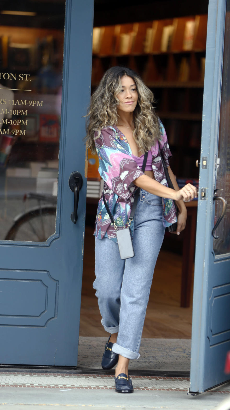 """Gina Rodriguez films """"Players"""" in New York City. - Credit: Steve Sands/New York Newswire/MEGA"""