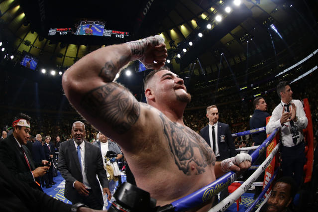 Ruiz won the first bout in New York with a shock TKO. (AP Photo)