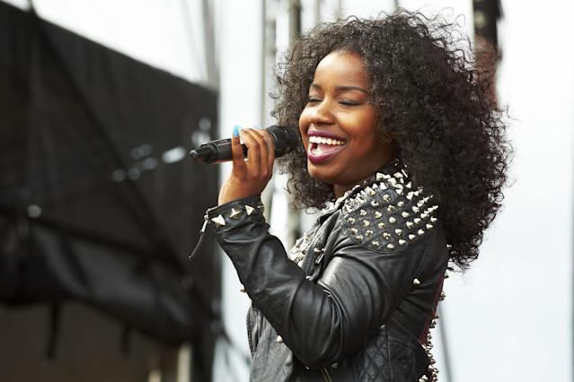 Misha B performs on stage during Sheftival at Don Valley Stadium on August 5, 2012 in Sheffield, United Kingdom. (Photo by Gary Wolstenholme/Redferns via Getty Images)