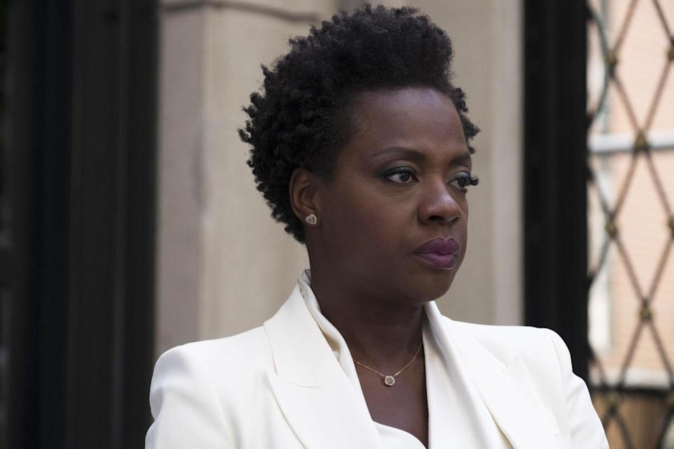 """Davis returned to center stage as the organizer of a group of women seeking to avenge their husbands' murders, and make some cash while they're at it, in <strong>Steve McQueen</strong>'s <em>Widows.</em> As the group's de facto ringleader, Veronica, Davis displayed the no-nonsense, tough-as-nails exterior that also served her as <a href=""""https://www.vanityfair.com/hollywood/2016/08/suicide-squad-margot-robbie-viola-davis?mbid=synd_yahoo_rss"""" rel=""""nofollow noopener"""" target=""""_blank"""" data-ylk=""""slk:Amanda Waller in DC's Suicide Squad"""" class=""""link rapid-noclick-resp"""">Amanda Waller in DC's <em>Suicide Squad</em></a>. Supported by <strong>Cynthia Erivo, Michelle Rodriguez,</strong> and <strong>Elizabeth Debicki,</strong> Davis is sleek, stone cold, and surprising as ever in this action-packed heist thriller."""