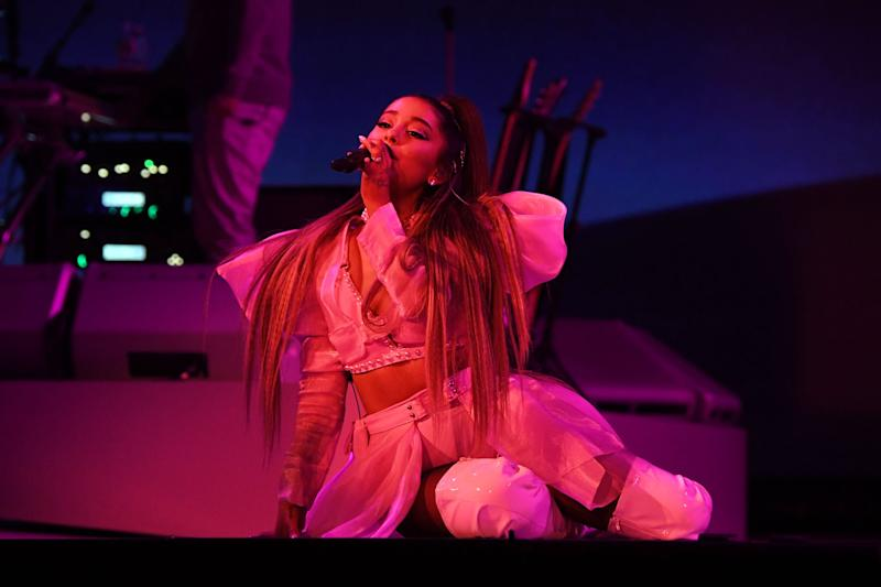 ALBANY, NEW YORK - MARCH 18: Ariana Grande performs onstage during the Sweetener World Tour - Opening Night at Times Union Center on March 18, 2019 in Albany, New York. (Photo by Kevin Mazur/Getty Images for Ariana Grande)