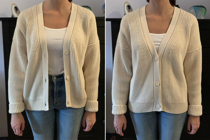 Tradlands Shelter Cardigan in Birch, size small