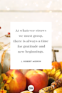 <p>At whatever straws we must grasp, there is always a time for gratitude and new beginnings.</p>