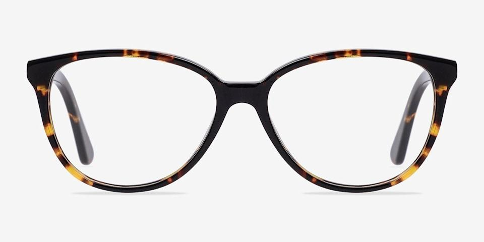 Hepburn Cat Eye Tortoise Eyeglasses. Image via EyeBuyDirect.