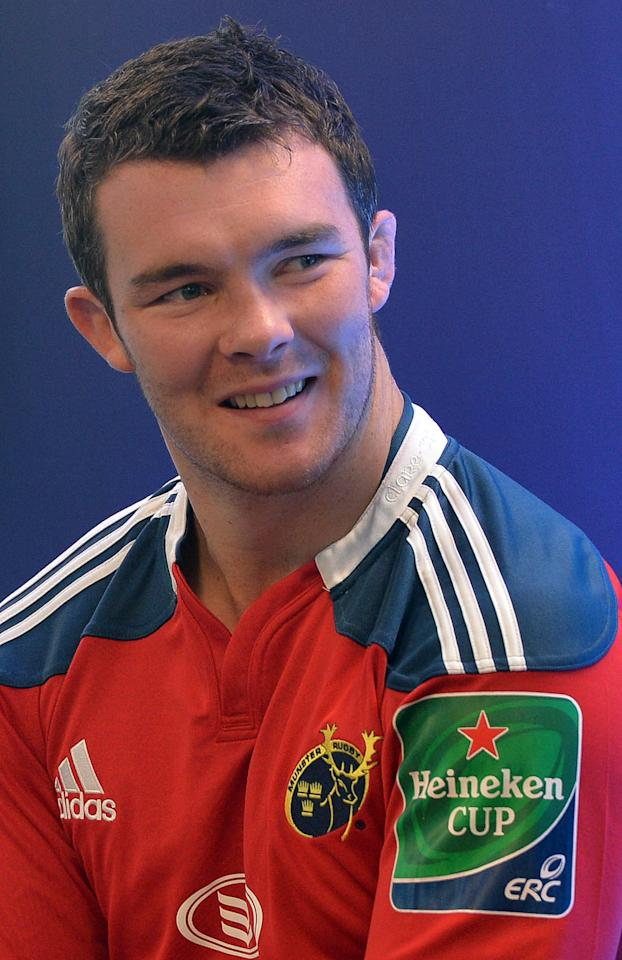 Munster's Peter O'Mahony during the Irish Heineken Cup Launch at Sky Ireland, Dublin.