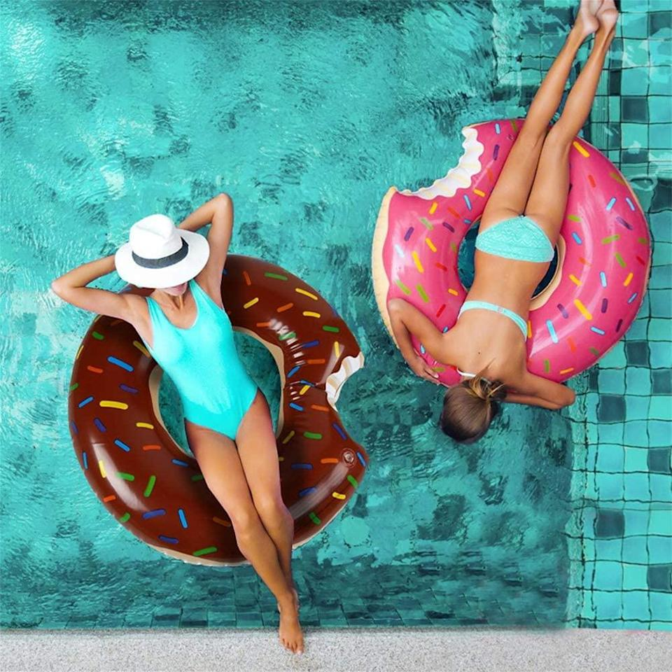 Celebrate National Donut Day with a yummy pool float. (Photo: Amazon)