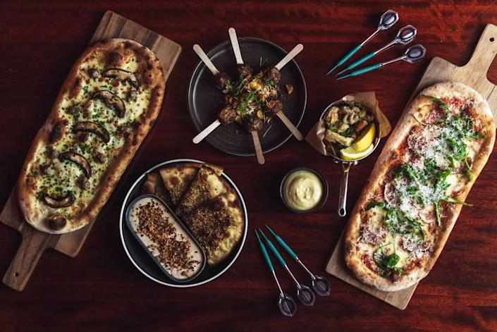 Flatbreads and some of the other menu offerings at Oche.