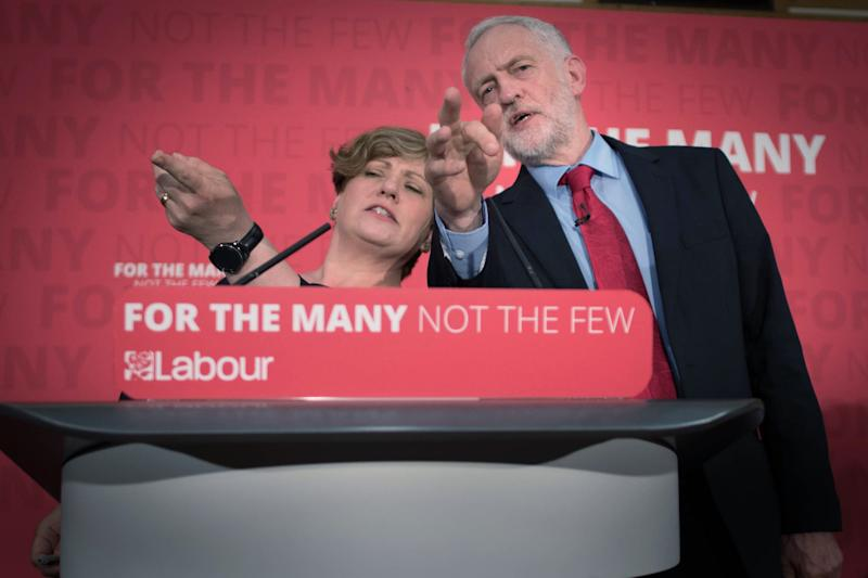 Emily Thornberry and Jeremy Corbyn on the election trail. (PA Wire/PA Images)