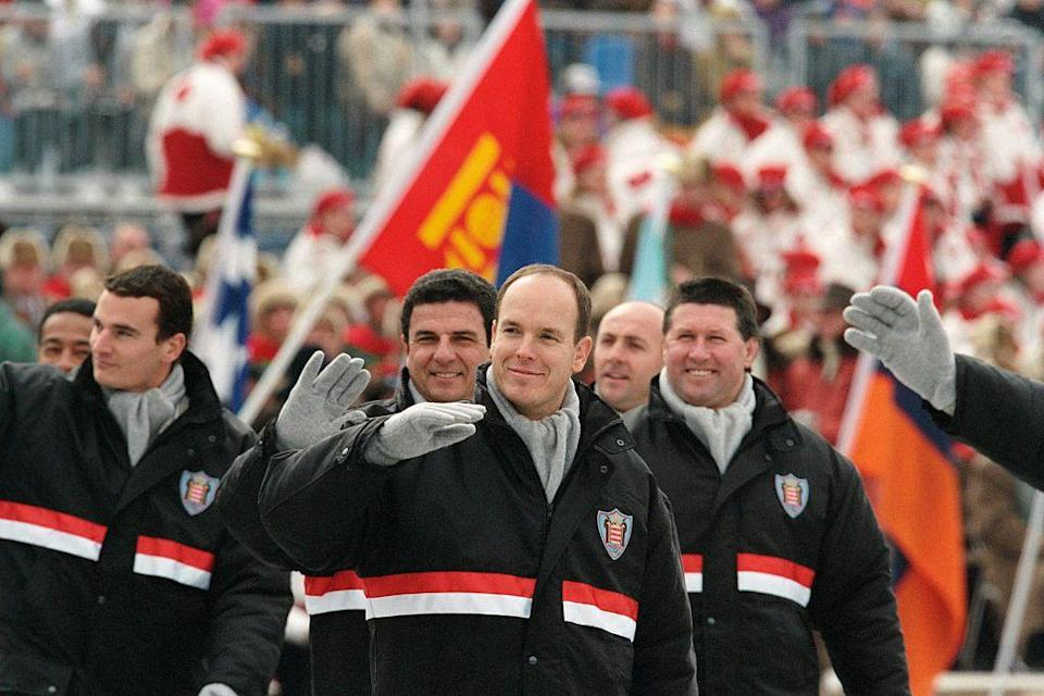 """<p>During the opening ceremony, all eyes were on Monaco's delegates in the Parade of Nations. This is because the delegation included royalty — specifically, Prince Albert, who would be competing in his <a href=""""https://olympics.com/ioc/news/prince-albert-ii-of-monaco-at-the-north-pole"""" rel=""""nofollow noopener"""" target=""""_blank"""" data-ylk=""""slk:fourth Olympic Games"""" class=""""link rapid-noclick-resp"""">fourth Olympic Games</a>. The son of Grace Kelly and Prince Rainier competed on the country's bobsled team. </p>"""