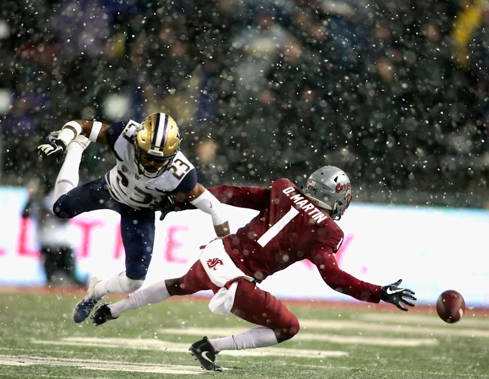 Washington State had won seven-straight games entering Friday night's Apple Cup. (Getty)