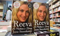 Copies of the book 'Reeva: A Mothers Story' by June Steenkamp, the mother of Reeva Steenkamp, in a book shop in London on November 10, 2014 (AFP Photo/Andrew Cowie)