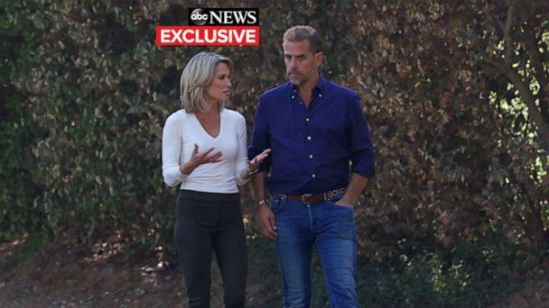 PHOTO: ABC�s Amy Robach talks with Hunter Biden. (ABC News)