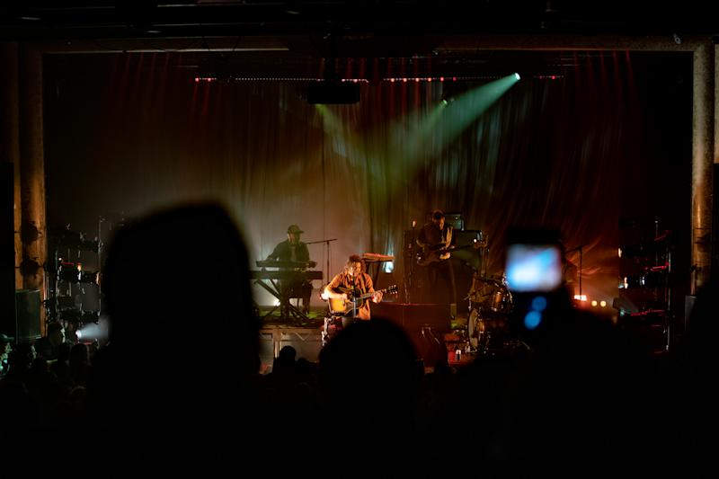 Boy & Bear performing live during their Hold Your Nerve Tour at The Tivoli in Fortitude Valley, Brisbane.