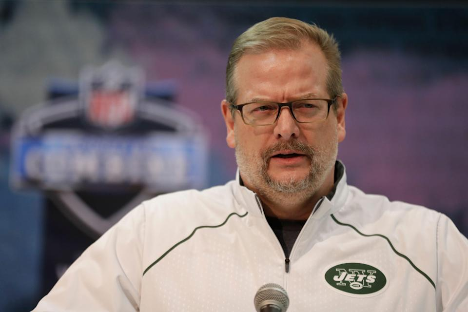 The New York Jets fired general manager Mike Maccagnan on Wednesday. (AP)