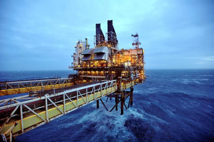 FILE PHOTO: A section of the BP Eastern Trough Area Project oil platform is seen in the North Sea in Scotland