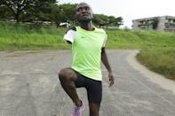 Fast but poor: Gabonese paralympic athlete Davy Moukagni trains for the 100m