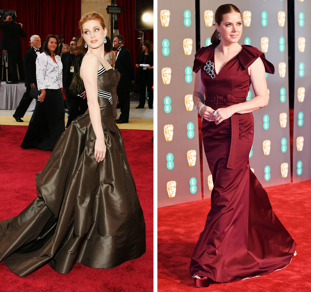 Left, at the Oscars on March 5, 2006; right, at the 2019 BAFTAs on February 10.