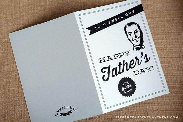 """<p>Say happy Father's Day the classy way with this vintage-inspired design. </p><p><strong><em>Get the printable at <a href=""""https://www.eleganceandenchantment.com/fathers-day-printables-cards-labels-and-a-printable-coupon/"""" rel=""""nofollow noopener"""" target=""""_blank"""" data-ylk=""""slk:Elegance and Enchantment"""" class=""""link rapid-noclick-resp"""">Elegance and Enchantment</a>. </em></strong></p>"""