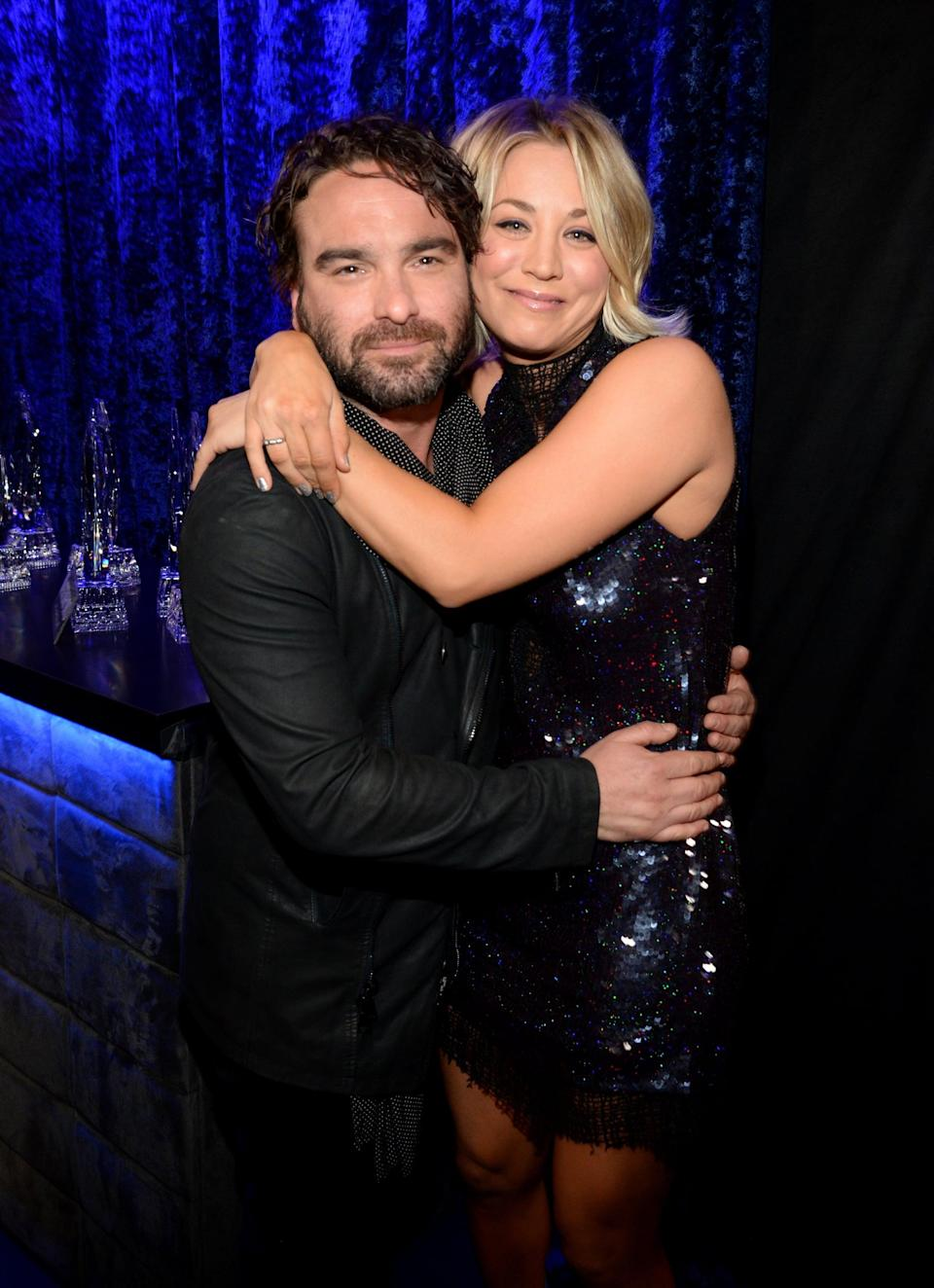 "<p>On <strong>The Big Bang Theory</strong>, Johnny and Kaley played neighbors turned lovers from 2007 to 2017, but you may not realize that the actors also dated in secret for two years. They got together soon after meeting on the show, but decided to end their own romance in 2009. </p> <p>Kaley first opened up about their relationship during a September 2010 interview with <strong>CBS Watch!</strong>, and <a href=""http://www.usmagazine.com/celebrity-body/news/kaley-cuoco-secretly-dated-big-bang-theory-co-star-for-two-years-2010299/"" class=""link rapid-noclick-resp"" rel=""nofollow noopener"" target=""_blank"" data-ylk=""slk:she had nothing but good things to say"">she had nothing but good things to say</a> about it. ""It was such a huge part of my life and no one knew about it,"" she said. ""This is the first time I've ever talked about it, ever. It was a wonderful relationship, but we never spoke a word about it and never went anywhere together."" Later, she added, ""We knew we weren't destined to be together. We accepted it and said, 'Look, if we ever break up, we will be professional.' I'm so lucky it was a mutual ending and that we don't hate each other."" </p> <p>Johnny expressed a similar sentiment during his own interview with <strong>CBS Watch! </strong>in December 2013, saying that <a href=""http://www.usmagazine.com/celebrity-news/news/johnny-galecki-opens-up-about-secret-two-year-romance-with-kaley-cuoco-were-dear-friends-2013711/"" class=""link rapid-noclick-resp"" rel=""nofollow noopener"" target=""_blank"" data-ylk=""slk:he and Kaley remained close"">he and Kaley remained close</a>. ""We're dear friends, still. Kaley's not just an ex - she's a part of my life,"" he said. ""I just don't like to speak about it. And not because I'm trying to be enigmatic; I just worry that it will conflict with people's acceptance of Leonard and Penny. I get the curiosity, but I don't want to distract from the story.""</p>"