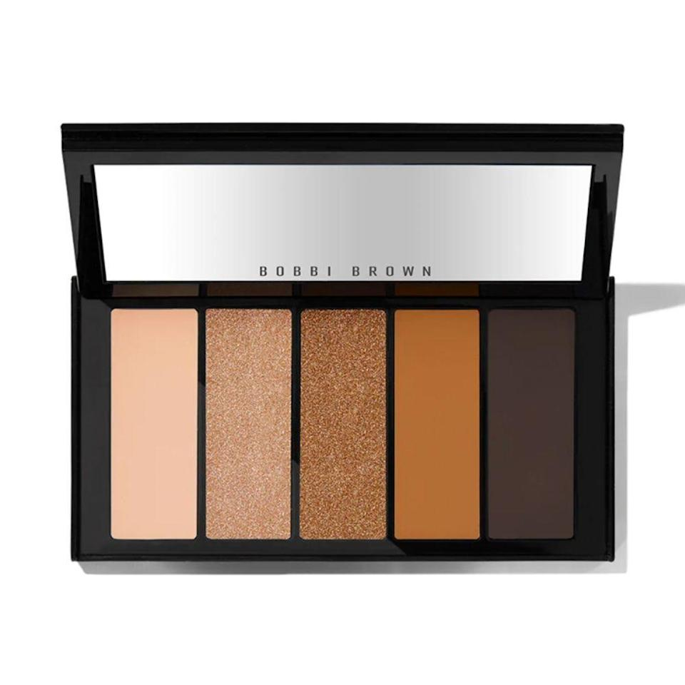 """<p><strong>Bobbi Brown</strong></p><p>bobbibrowncosmetics.com</p><p><strong>$29.00</strong></p><p><a href=""""https://go.redirectingat.com?id=74968X1596630&url=https%3A%2F%2Fwww.bobbibrowncosmetics.com%2Fproduct%2F15611%2F80075%2Fholiday%2Fpalettes-sets%2Fember-lights-eye-shadow-palette%2Ffh20&sref=https%3A%2F%2Fwww.prevention.com%2Flife%2Fg34751763%2Fgifts-that-give-back-charity%2F"""" rel=""""nofollow noopener"""" target=""""_blank"""" data-ylk=""""slk:Shop Now"""" class=""""link rapid-noclick-resp"""">Shop Now</a></p><p>You can never go wrong with gifting a subtle, yet glittery eye shadow palette! The warm and natural eye shadow shades are perfect for the holidays ... and every day thereafter. And while this affordable beauty gift is perfect for the makeup lover, you'll also feel great knowing that the brand has partnered with <a href=""""https://shesthefirst.org/"""" rel=""""nofollow noopener"""" target=""""_blank"""" data-ylk=""""slk:She's the First"""" class=""""link rapid-noclick-resp"""">She's the First</a>, an organization on a mission to educate and provide resources for young girls around the world. </p>"""