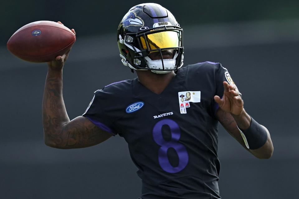 Lamar Jackson's ability to lead his team when they are trailing is the Ravens' Achilles' heel heading into the 2020 season. (Patrick Smith/Getty Images)