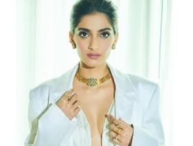 Sonam Kapoor looks radiant as she ditches her bra in a bold white outfit