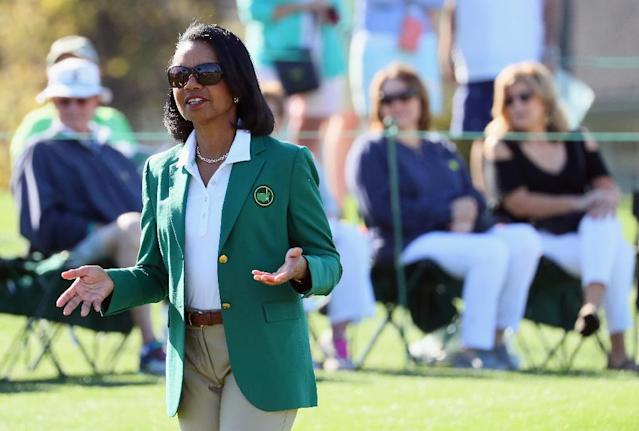Former US Secretary of State Condoleezza Rice became one of the first female members of the Augusta National Golf Club in 2012 (AFP Photo/Andrew Redington)