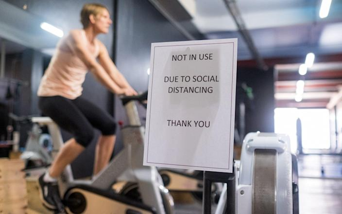 Gyms are going to great lengths to Covid-proof their workout spaces
