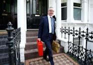 Conservative Party leadership candidate Michael Gove leaves his home in London