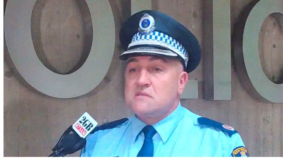 Acting Assistant Commissioner Wayne Humphrey told reporters police attended the scene after the university received a threatening phone call. Source: Facebook/NSW Police
