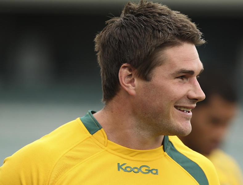Ben Mowen, pictured during a training session of the Australian Wallabies, at Paterson Stadium in Perth, on September 13, 2013 (AFP Photo/Tony Ashby)