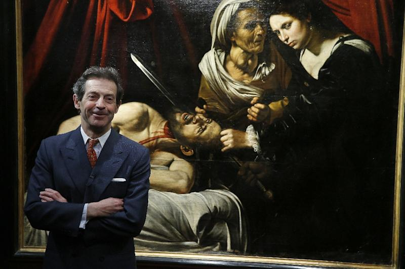 "French art expert Eric Turquin claims the so-called ""Toulouse Caravaggio"" is a revolutionary masterpiece (AFP Photo/PATRICK KOVARIK)"