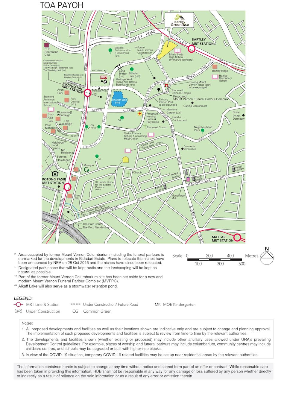 Bartley GreenRise BTO map