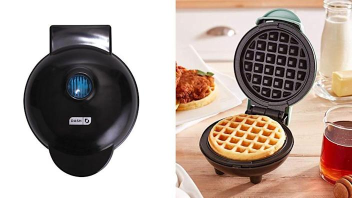 This cutesy waffle maker is perfect for smaller kitchens—and it's under $10.
