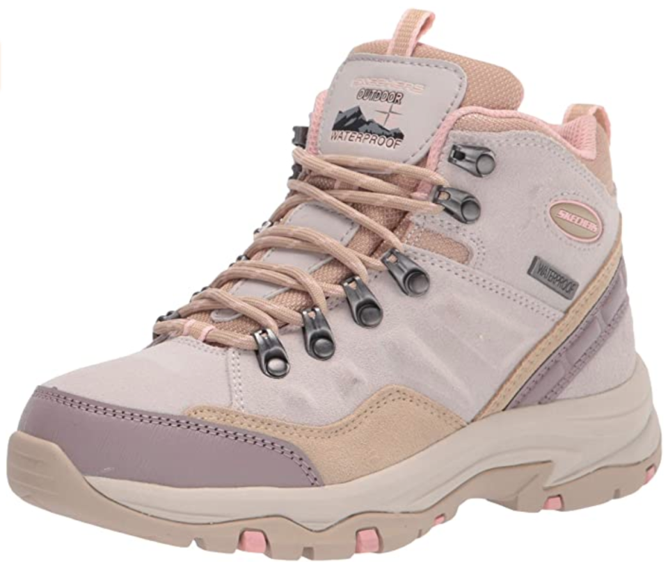 Skechers Women's Hiking Boot in Natural (Photo via Amazon)